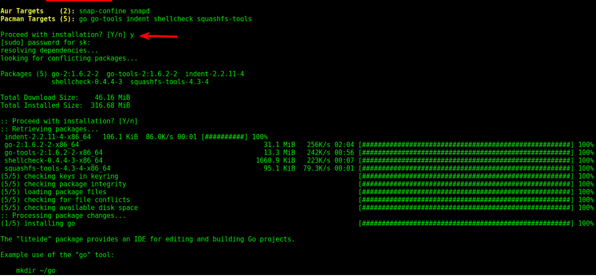 arch linux snap