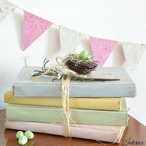 Painted Hardcover Books With French Country Style