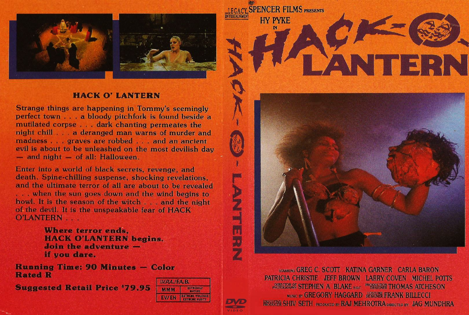 The Horrors of Halloween: HACK-O-LANTERN (1988) Print, Blu