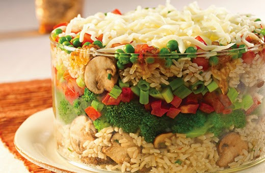 Layered Rice Salad Recipe