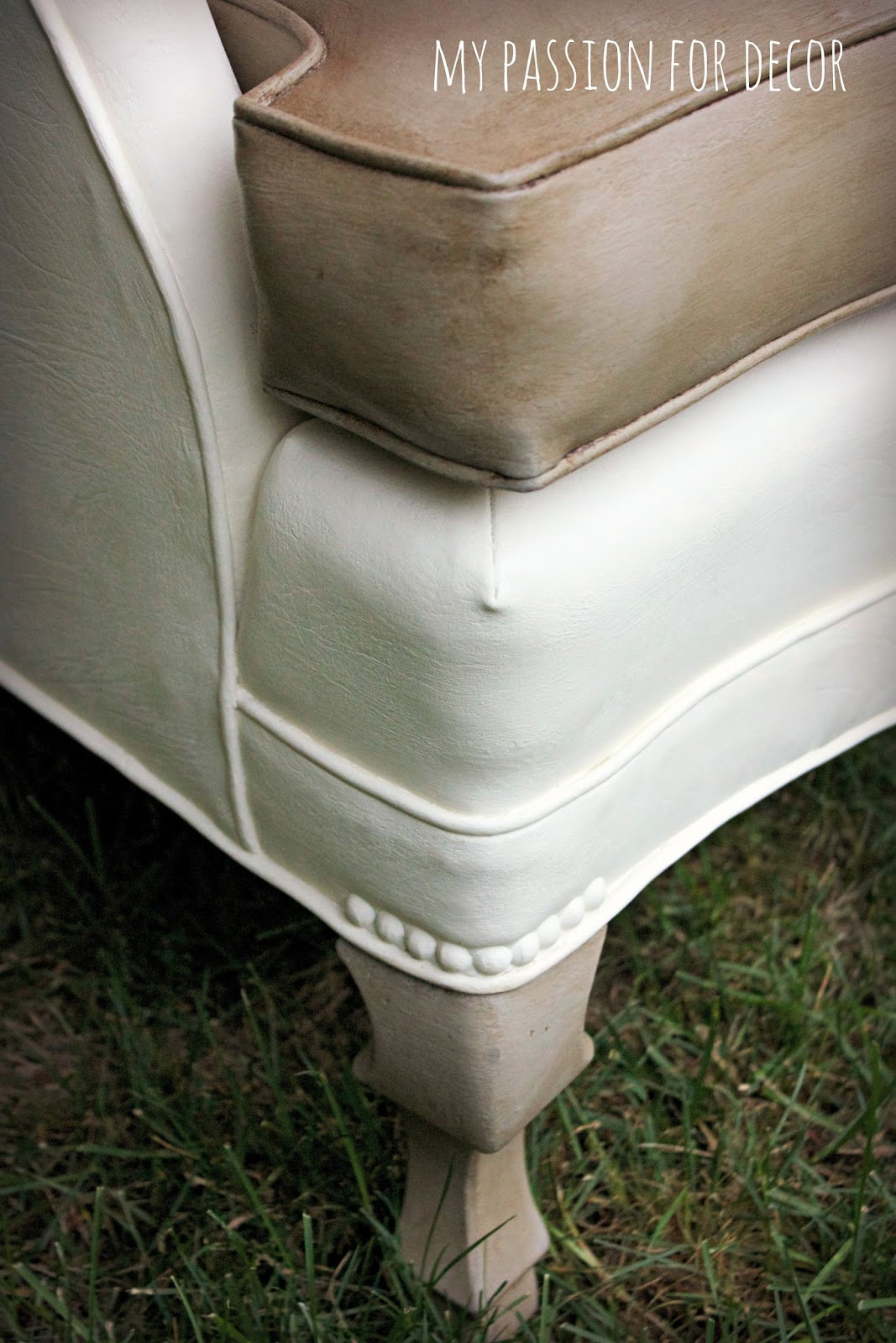 Can I Spray Paint My Leather Sofa Purple Velvet Bed How To Update An Ugly Vinyl Chair Southbury Ct Patch