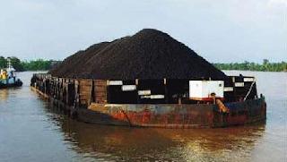 tongkang batubara - TRANSFORTASI BATUBARA DENGAN TONGKANG