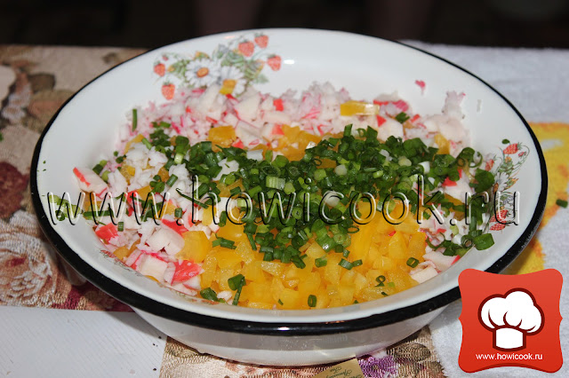 рецепт вкусного салата с крабовыми палочками пошаговые фото