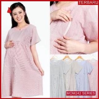 MOM242D13 Dress Hamil Menyusui Kotak Kantor Dresshamil Ibu Hamil