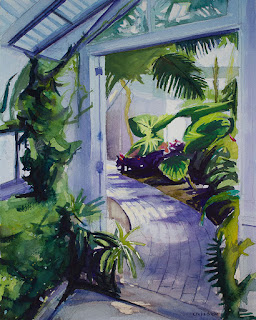 Watercolor Painting of Erie County botanical gardens