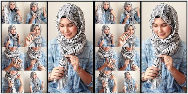 Tutorial Hijab Praktis Tanpa Peniti atau Jarum yang Patut Dicoba