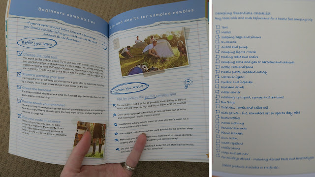 handy checklist in the Halford's camping guide