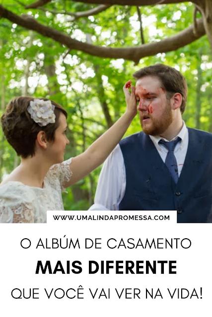 O álbum de casamento mais diferente que você vai ver na vida!