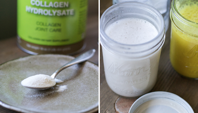 collagen, latte, benefits, hydrolyzed collagen, collagen peptides, gut health, skin, joint pain,