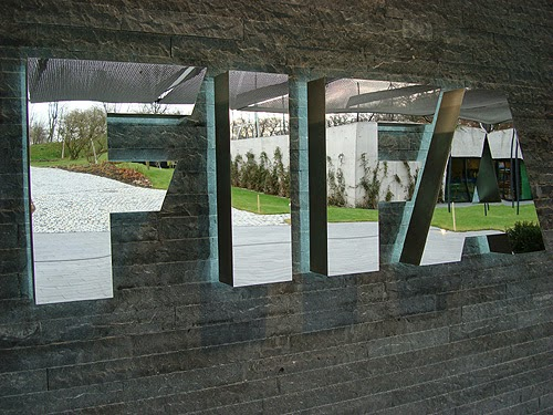 More FIFA fans head for the exit.