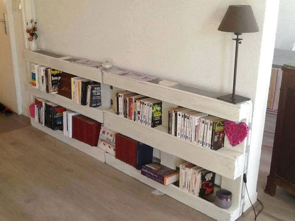 Modern Bookcase Living Room Storage Cabinet Solid Wood