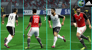 PES 2013 - Egypt Afcon 2017 Kits By Mustafa Issa