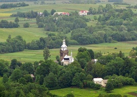 Kościół pw. św.Katarzyny w Starym Żmigrodzie (widok z Grzywackiej Góry).