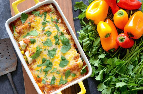 VEGETABLE ENCHILADAS RECIPE #vegetable #delicious