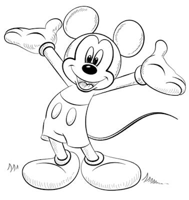 Gambar Mewarnai Mickey Mouse - 6