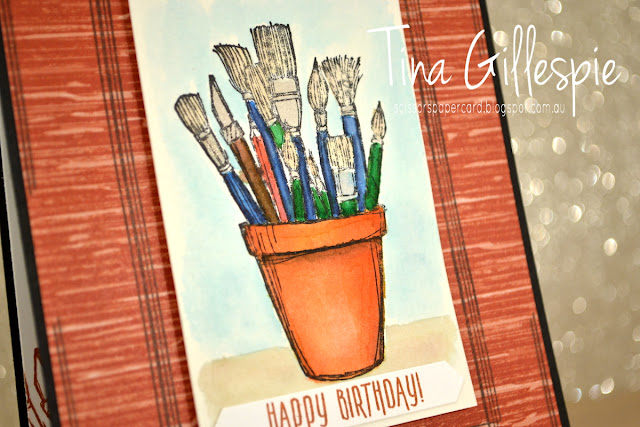 scissorspapercard, Stampin' Up!, Art With Heart, Colour Creations, Crafting Forever, Picture Perfect Birthday, Swirly Frames, Nature's Poem DSP, Watercolouring