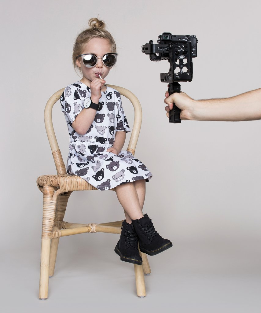 Huxbaby - monochrome kids fashion SS16/17 - white bear dress