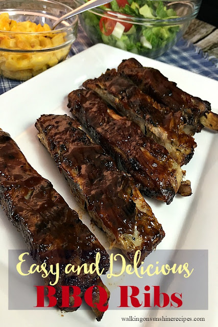 Easy and Delicious Smithfield BBQ Ribs Recipe are perfect for dinner any night of the week using this recipe from Walking on Sunshine Recipes.  The ribs cook in the slow cooker first and then finish up on the grill.  They come out tender and juicy every time!