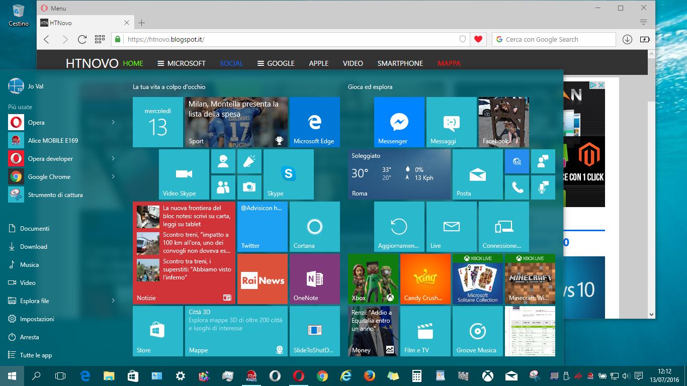 Microsoft aggiorna la RTM di Windows 10 HTNovo