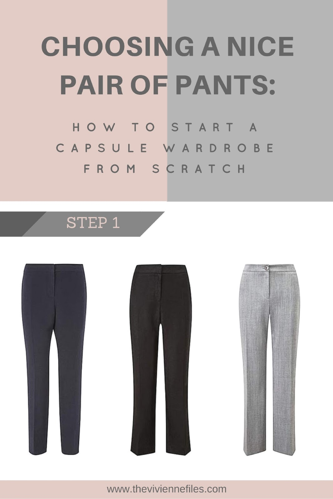 How To Build A Capsule Wardrobe From Scratch Step One: A
