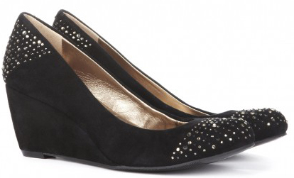 Black Comfort Wedge Shoes