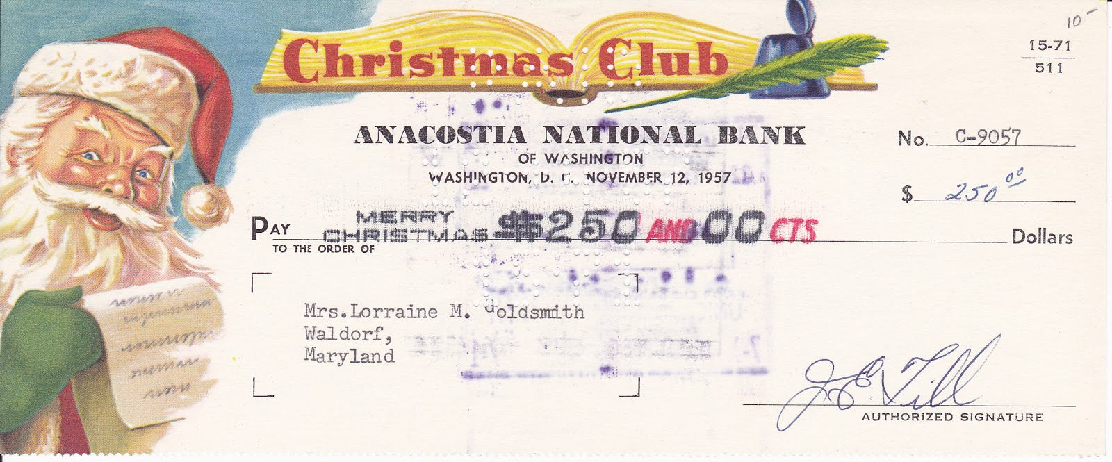 Bob Lemke's Blog: Collecting colorful Christmas Club checks