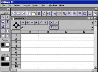 WingZ, salah satu Software Spreadsheet yang beredar di masyarakat