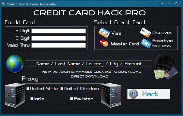 credit card hack pro credit card number generator evgeniy bogachev. Black Bedroom Furniture Sets. Home Design Ideas