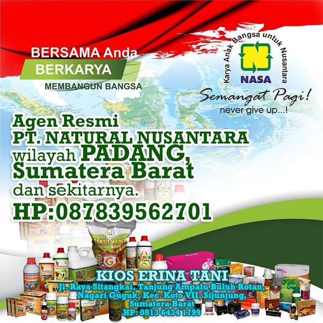 Alamat Agen Resmi  NASA untuk wilayah Padang  dan sekitarnya. Menerima pemesanan partai besar dan kecil. HP: 08170429050-081326608813