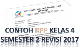 contoh rpp k13 kelas 4 semester 2 revisi 2017