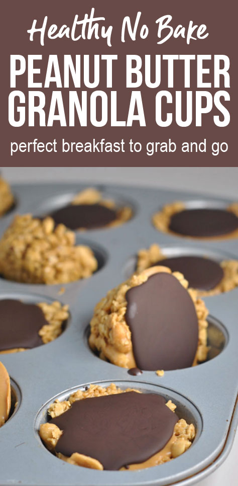 No Bake Peanut Butter Granola Cups