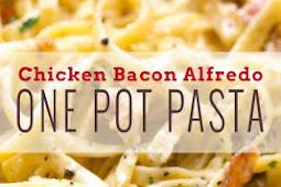 One-Pot Chicken Bacon Alfredo Pasta