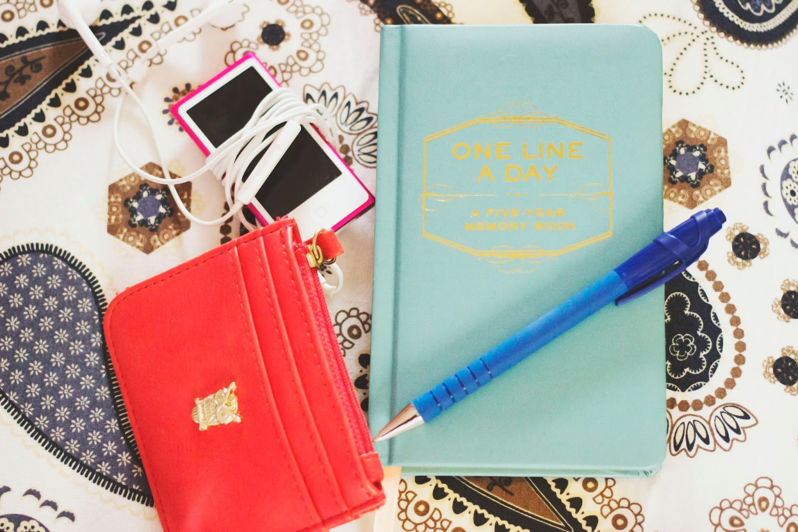One Line A Day Diary, One Line A Day, Flatlay, Katie Writes,