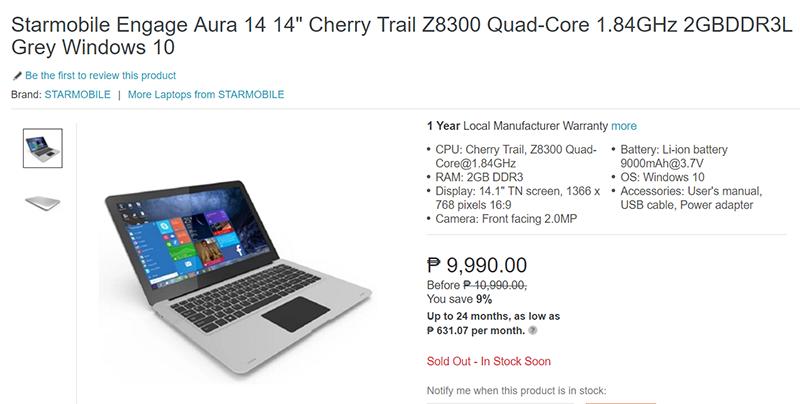 Starmobile Engage Aura 14 Laptop Lazada
