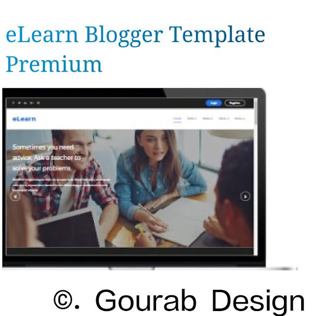 eLearn blogger template