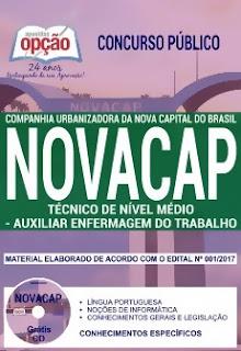 Apostila Concurso NOVACAP 2018 Auxiliar Enfermagem do Trabalho