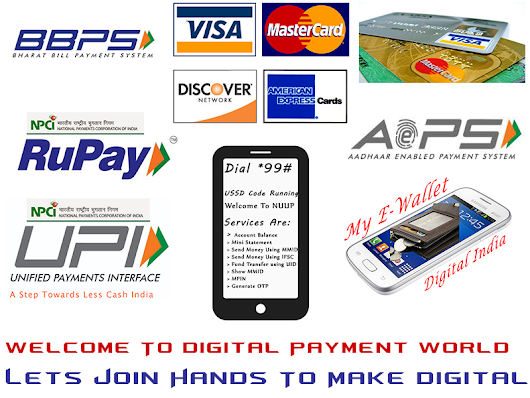 A Step Towards Digital India - Types of Digital or Cashless Payment Mode Available In India - DigiTeck           -            DigiTeck - World Of Digital Technology
