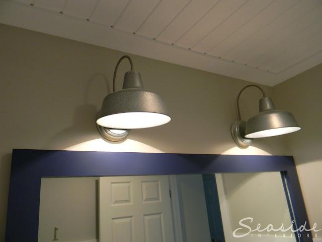 Nautical Bathroom Lighting: Seaside Interiors: Kids Nautical Bathroom Reveal