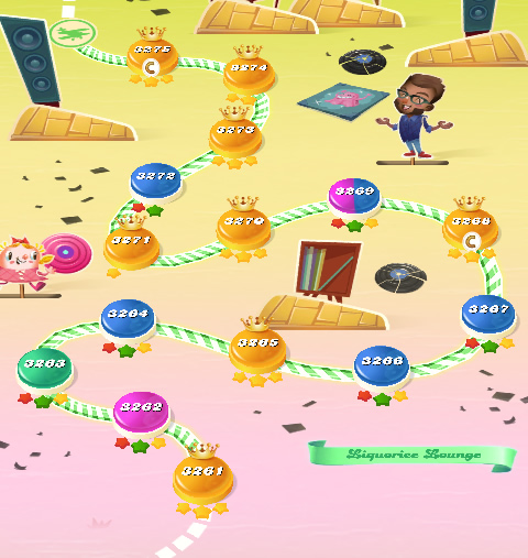 Candy Crush Saga level 3261-3275