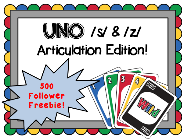 https://www.teacherspayteachers.com/Product/FREEBIE-UNO-Articulation-game-for-s-z-sounds-Speech-therapy-1721794