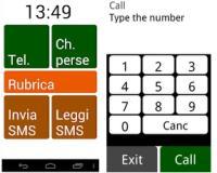 Trasformare Android in un telefono per anziani, semplice coi pulsanti grossi