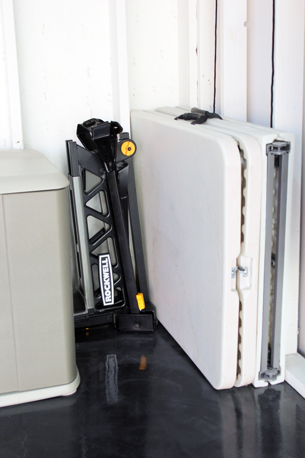 Garage storage use every available space to organize