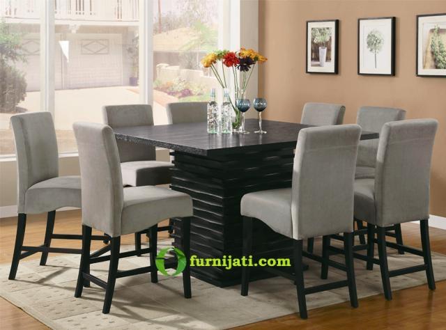 Harga meja makan kayu jati 8 kursi