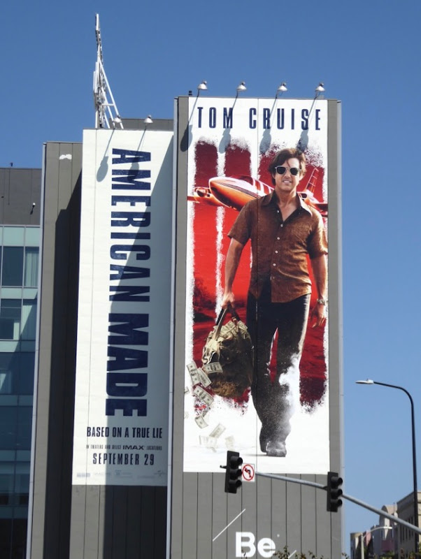 Giant American Made movie billboard