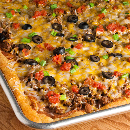 Taco Pizza Cook N Is Fun Food Recipes Dessert