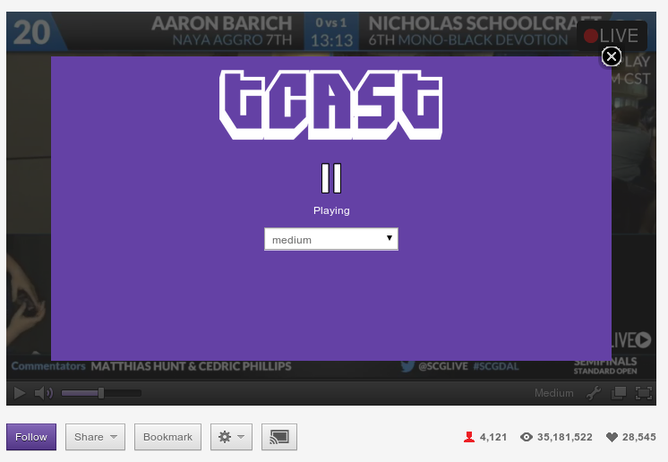 Thoughts on Technology: HOWTO: Stream Twitch tv to Chromecast