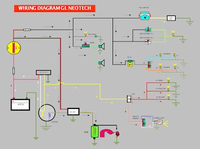 Wiring Diagram Honda Gl 100 honda motorcycle wiring color ... on