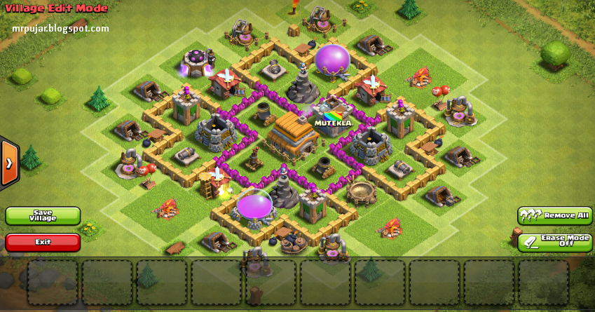 cara pertahanan coc th 6,base th 6