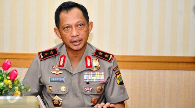 Tito Karnavian Jadi Calon Tunggal Kapolri
