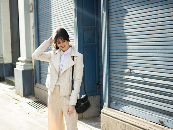 Outfit: head to toe metallics in jumpsuit